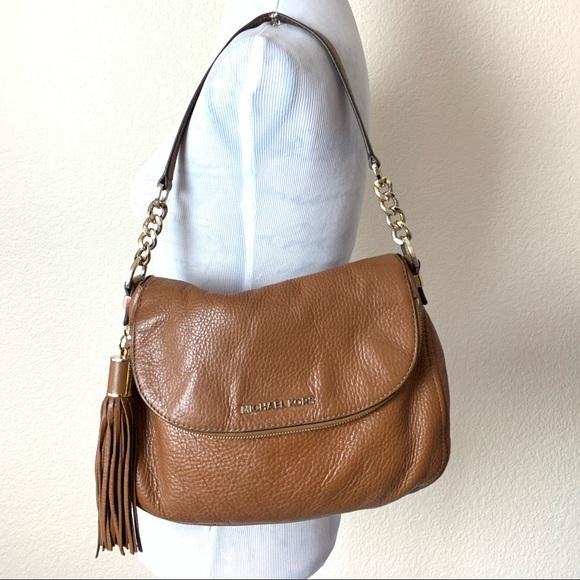 ☮️ Michael kors Weston brown foldover handbag